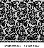 seamless black vector lace... | Shutterstock .eps vector #614055569