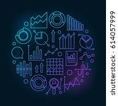 data analytics circular... | Shutterstock .eps vector #614057999