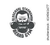 logo for brutal fitness club.... | Shutterstock .eps vector #614061677