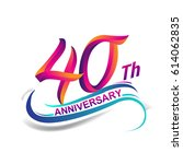 40th anniversary celebration... | Shutterstock .eps vector #614062835