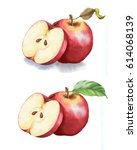 hand drawn watercolor... | Shutterstock . vector #614068139