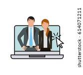 business people design | Shutterstock .eps vector #614071211