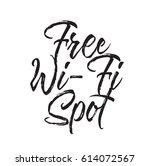 free wi fi spot  text design.... | Shutterstock .eps vector #614072567
