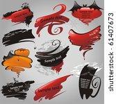 halloween banners collection. ... | Shutterstock .eps vector #61407673