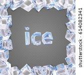 ice frame vector.   Shutterstock .eps vector #614082341