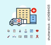 medicine and healthcare icons | Shutterstock .eps vector #614084435