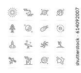 astronomy vector line icons ...   Shutterstock .eps vector #614092007