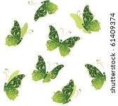 Green Art Butterfly Flying ...