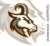 goat sport logo mascot element | Shutterstock .eps vector #614099351