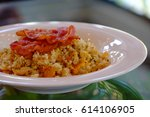 Fried Rice With Bacon Topping...