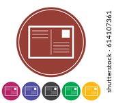 postcard icon.vector...   Shutterstock .eps vector #614107361