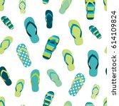 Flip Flop Color Summer Pattern. ...
