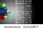 abstract 3d black background... | Shutterstock . vector #614110877