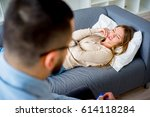 at the psychologist | Shutterstock . vector #614118284