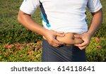 man body fat   Shutterstock . vector #614118641