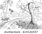 Jungle Road Graphic Black Whit...
