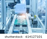 microchip production factory.... | Shutterstock . vector #614127101