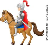 knight horse shield sword...   Shutterstock .eps vector #614128631