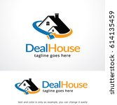 deal house logo template  | Shutterstock .eps vector #614135459