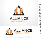 alliance logo template design... | Shutterstock .eps vector #614135819