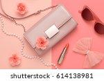 fashion design woman... | Shutterstock . vector #614138981