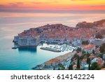 dubrovnik  croatia. beautiful...   Shutterstock . vector #614142224