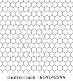 minimalistic hexagon seamless...   Shutterstock .eps vector #614142299