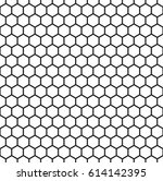 minimalistic hexagon seamless... | Shutterstock .eps vector #614142395