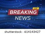 Breaking News Live Banner On...