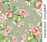 watercolor seamless pattern of... | Shutterstock . vector #614146829