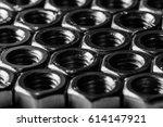 hex nuts of steel closeup   Shutterstock . vector #614147921