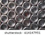 hex nuts of steel closeup   Shutterstock . vector #614147951