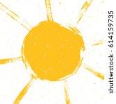 abstract vector sun... | Shutterstock .eps vector #614159735