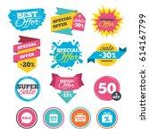 sale banners  online web... | Shutterstock .eps vector #614167799