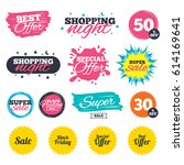 sale shopping banners. special... | Shutterstock .eps vector #614169641