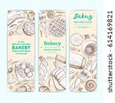 bakery vector illustration.... | Shutterstock .eps vector #614169821