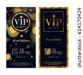 vip party premium invitation... | Shutterstock .eps vector #614170424