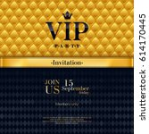 vip party premium invitation... | Shutterstock .eps vector #614170445