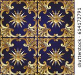 seamless pattern with richly... | Shutterstock .eps vector #614172791