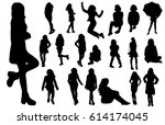 A Collection Of Silhouettes Of...