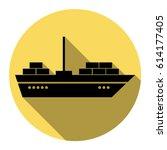 ship sign illustration. vector. ... | Shutterstock .eps vector #614177405