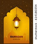 ramadan kareem wallpaper design ... | Shutterstock .eps vector #614180354