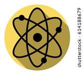 atom sign illustration. vector. ... | Shutterstock .eps vector #614188679