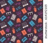 furniture seamless pattern....   Shutterstock .eps vector #614192105