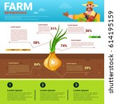 farming infographics eco... | Shutterstock .eps vector #614195159