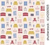furniture seamless pattern....   Shutterstock .eps vector #614200505