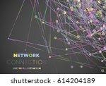communication social mesh.... | Shutterstock .eps vector #614204189