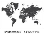 political world map isolated on ... | Shutterstock .eps vector #614204441