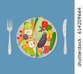 Healthy Food. Plate With...