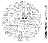 sale shopping market internet... | Shutterstock .eps vector #614214221